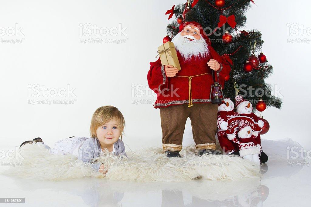 baby mit Weihnachten Dekoration Lizenzfreies stock-foto