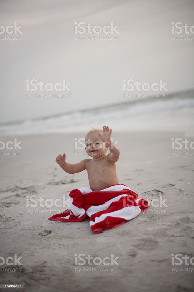 Baby Wrapped in Towel royalty-free stock photo
