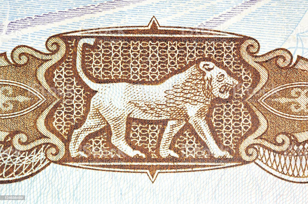 Babylon lion stock photo