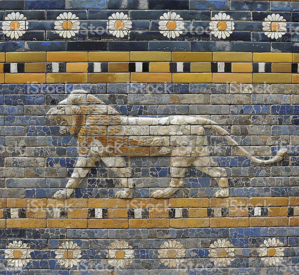 Babylonian Lion stock photo