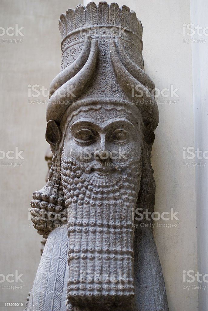 Babylonian sculpture stock photo