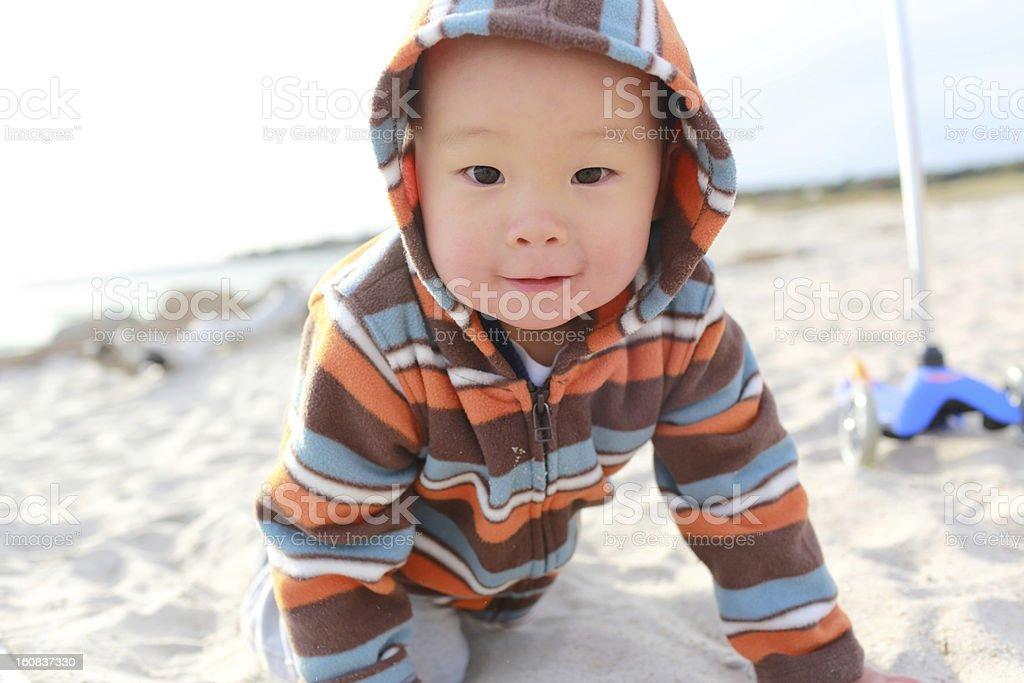 Baby's Autumn royalty-free stock photo