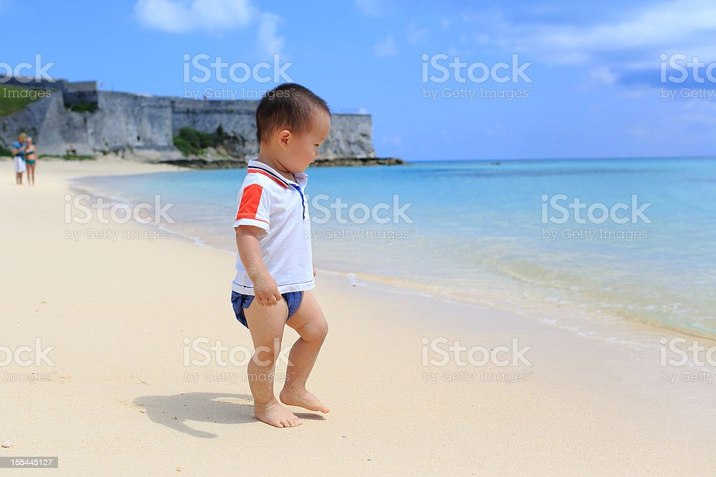 Baby's Bermuda stock photo