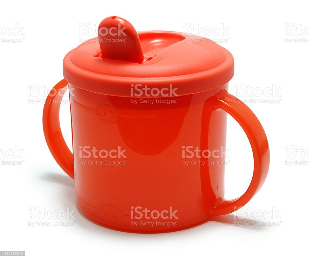 Baby's Drinking Cup stock photo