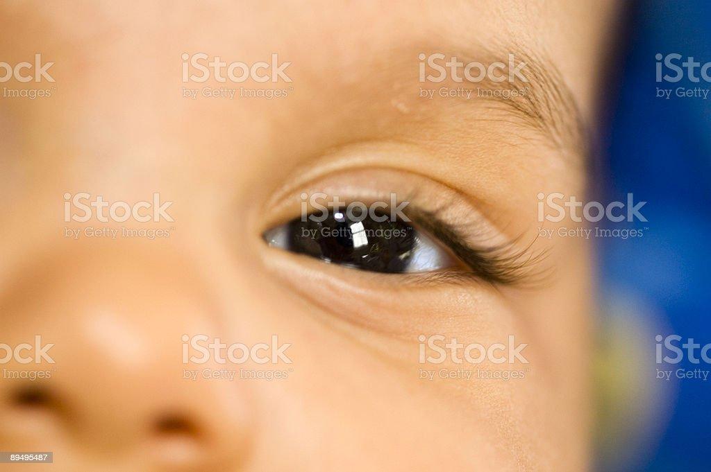 Baby's eye royalty-free stock photo