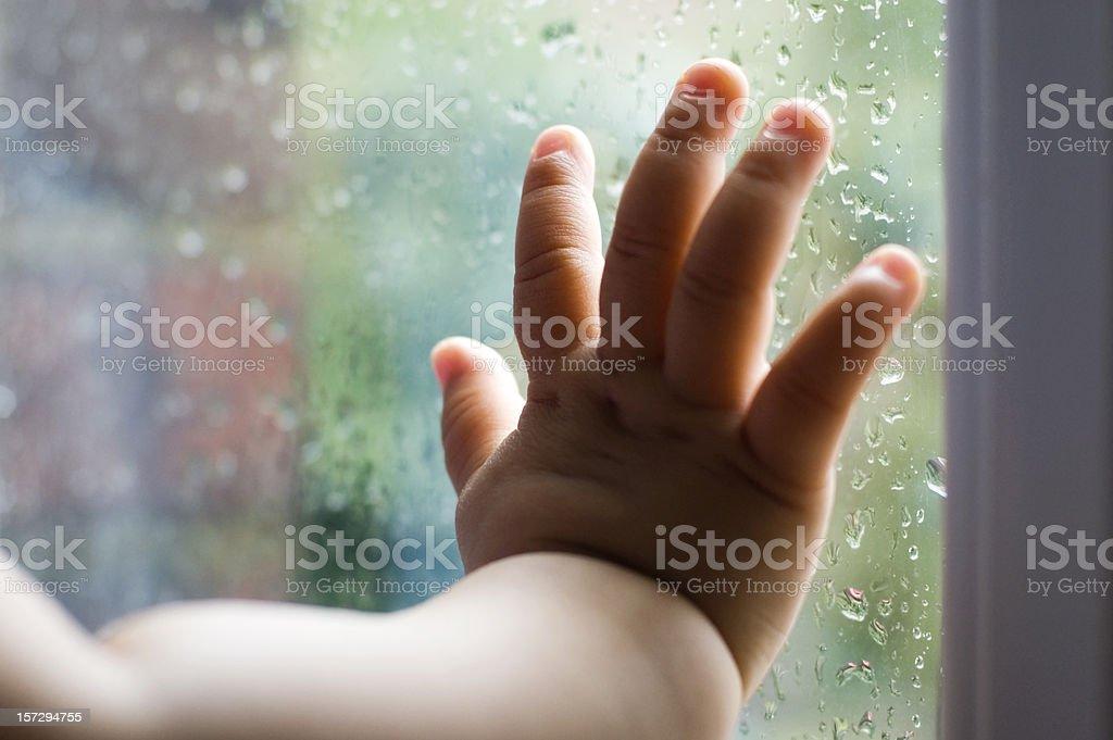 Baby's hand stock photo