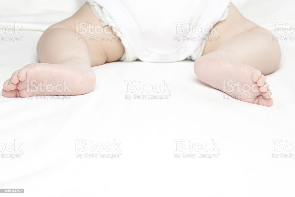 Baby's legs. royalty-free stock photo