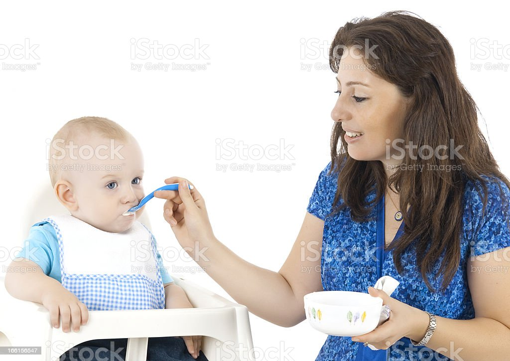 Baby's lunch time royalty-free stock photo