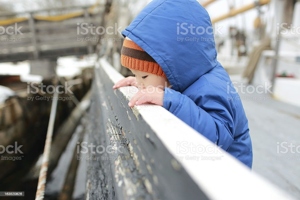 Baby's Winter royalty-free stock photo