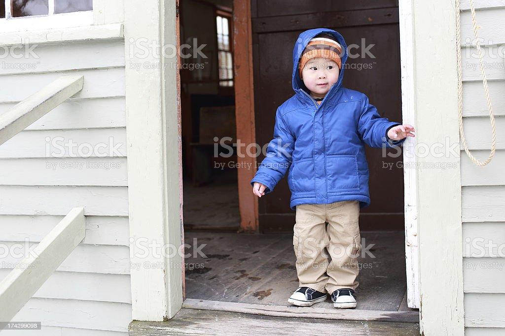 Baby's Winter royalty-free stock photo
