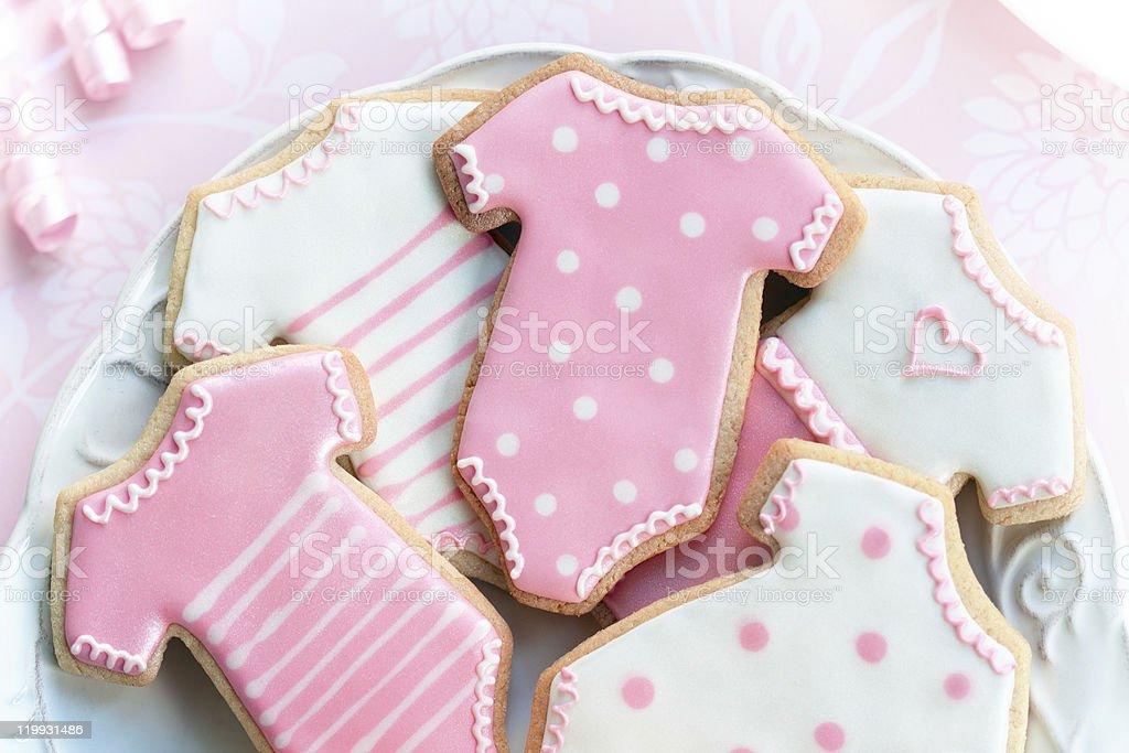 Babyshower cookies stock photo