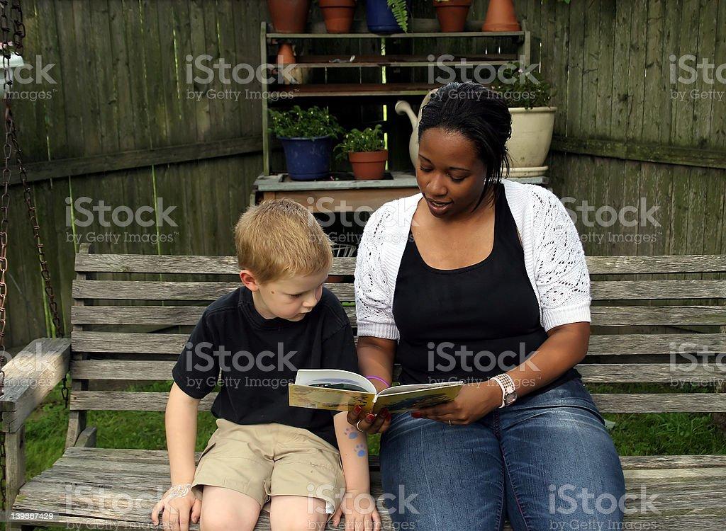 Babysitter royalty-free stock photo