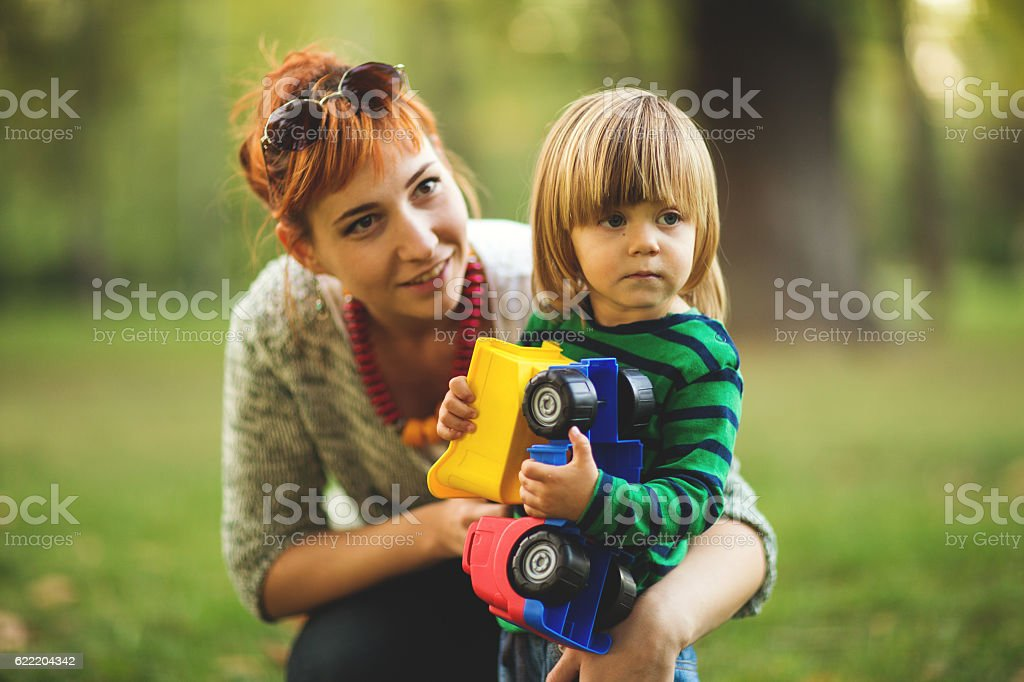 Babysitter stock photo
