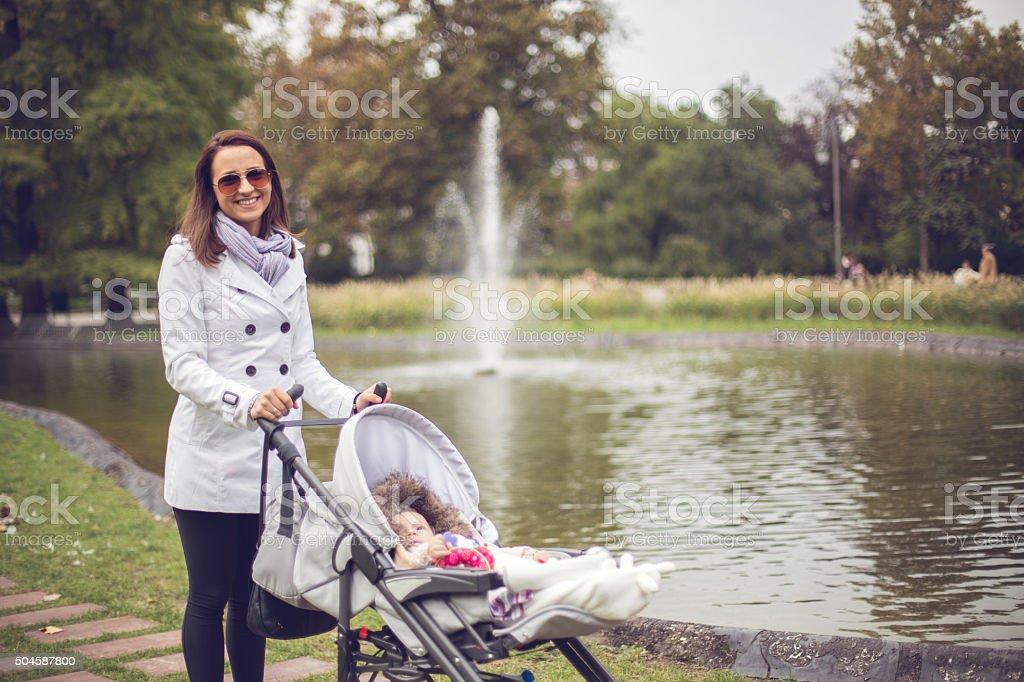 Babysitting stock photo