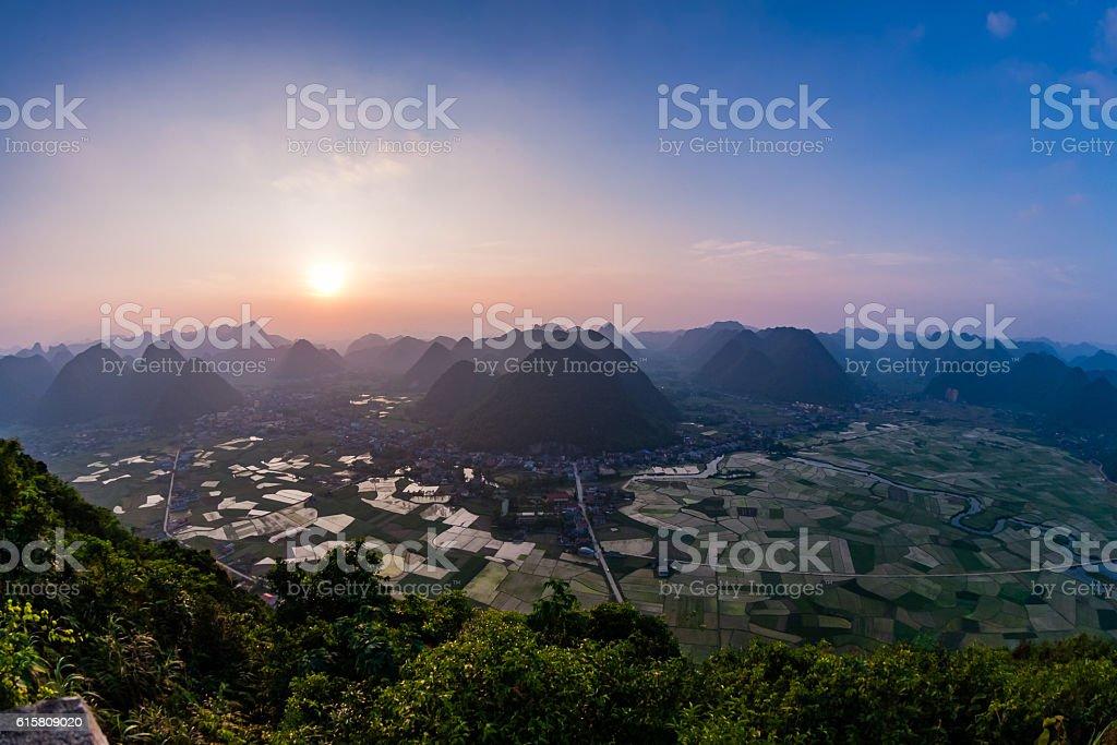 Bac Son valley, Lang Son, Vietnam stock photo