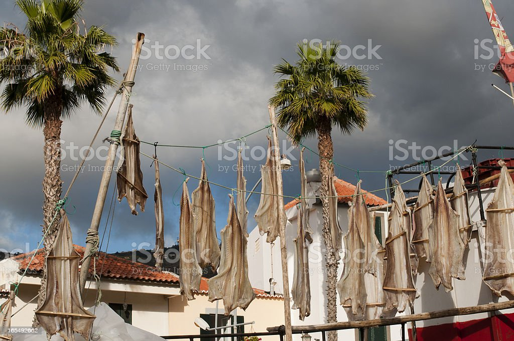 Bacalao fish of Madeira stock photo