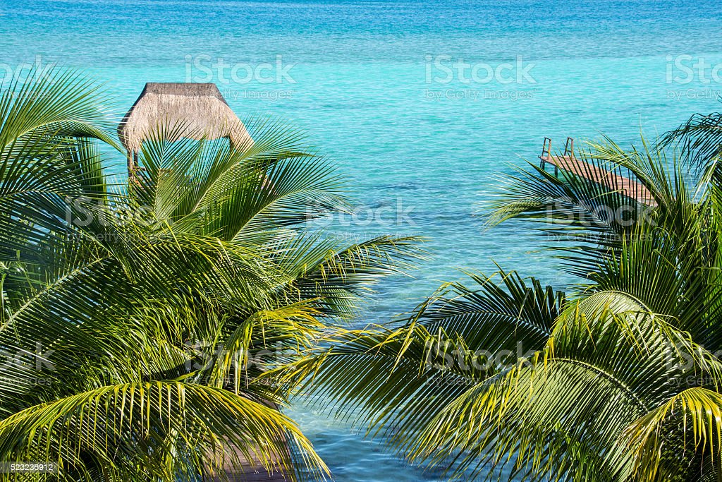 Bacalar water stock photo