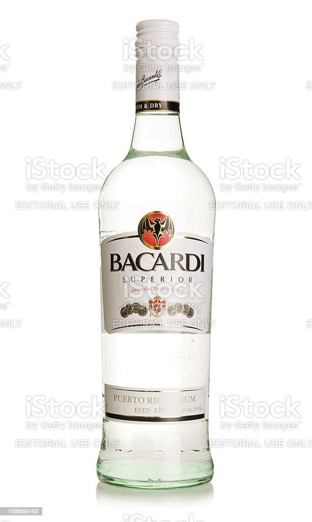 Bacardi Superior Rum bottle stock photo