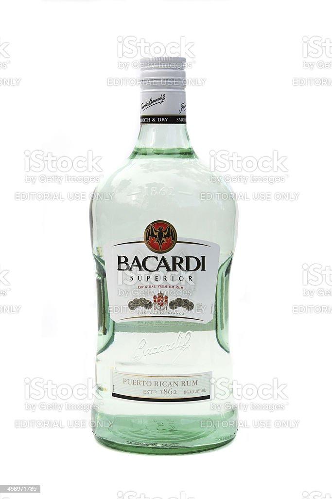 Bacardi Superior White Rum royalty-free stock photo