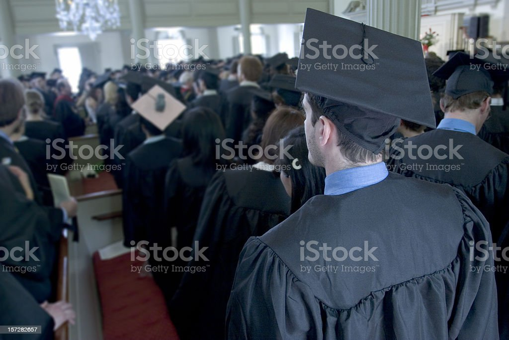 Baccalaureate ceremony royalty-free stock photo
