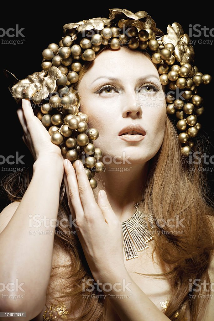 Bacchante greek goddess royalty-free stock photo