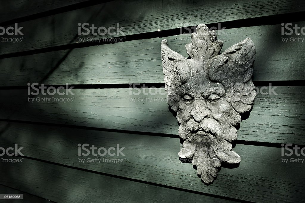 Bacchus on Wall royalty-free stock photo