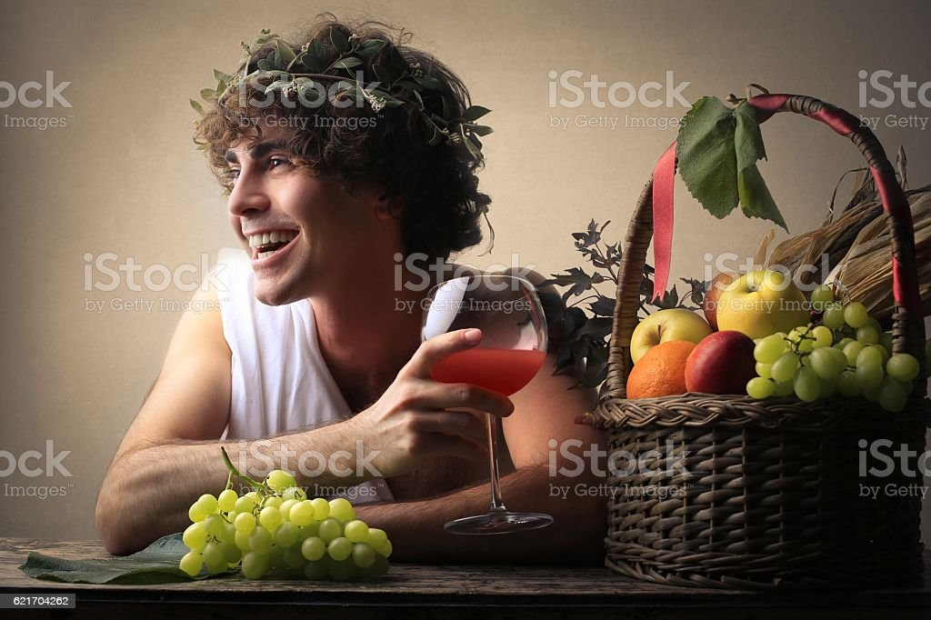 Bacchus stock photo