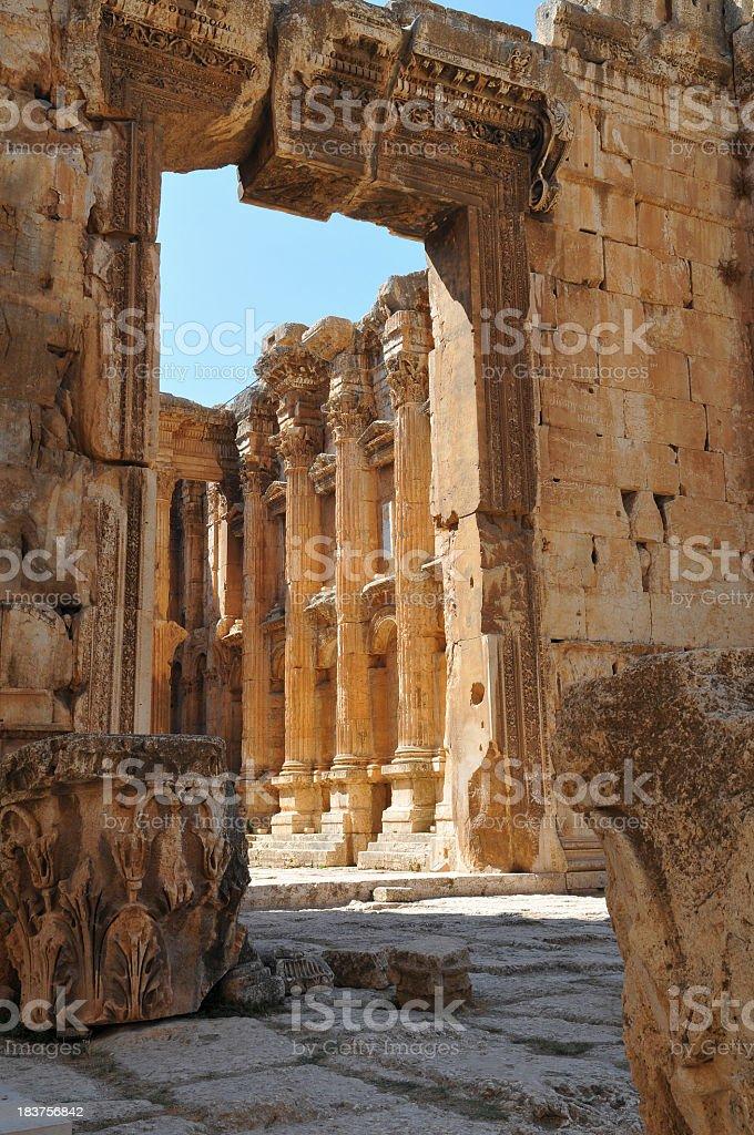 Bacchus Temple in Baalbek Lebanon stock photo