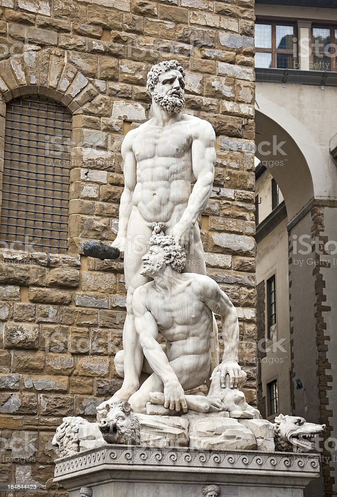 Baccio Bandinelli's statue of Hercules and Cacus, Florence stock photo
