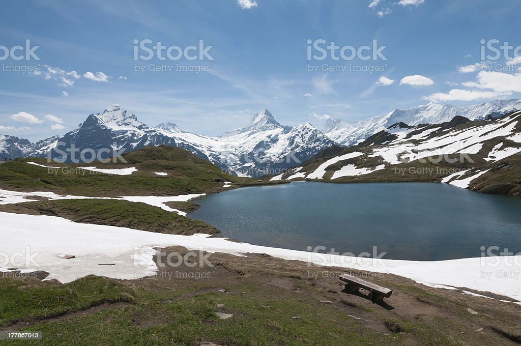 Bachalpsee - Bernese Alps stock photo