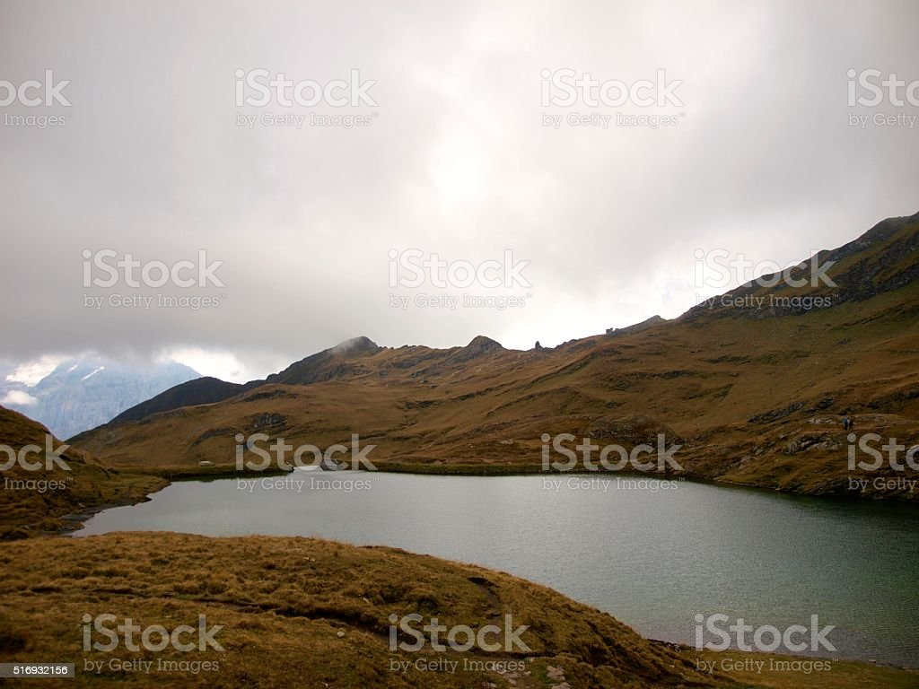 Bachalpsee,Grindelwald/Switzerland stock photo