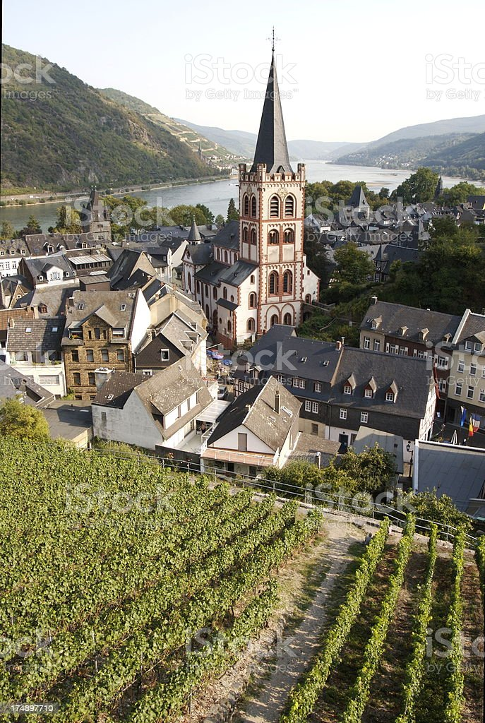 Bacharach Germany on the Rhine River royalty-free stock photo