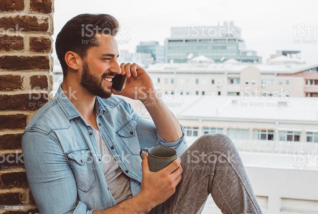 Bachelor lifestyle stock photo