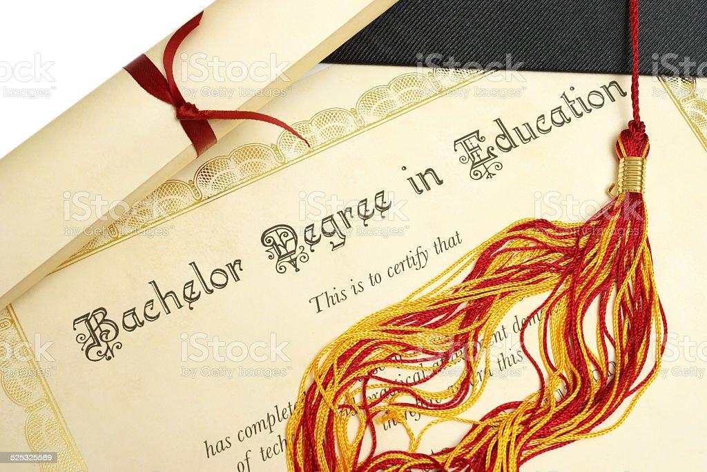 Bachelor of Education stock photo