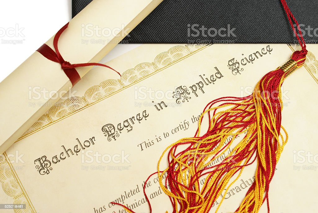 Bachelor of Science stock photo