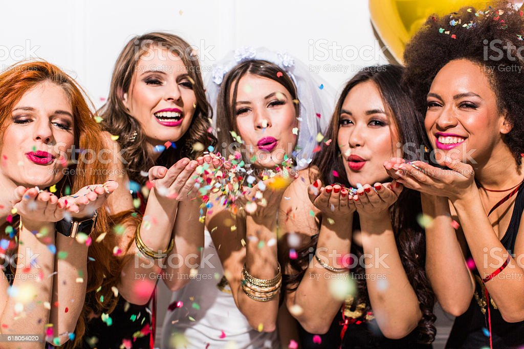 Bachelorette party can begin stock photo