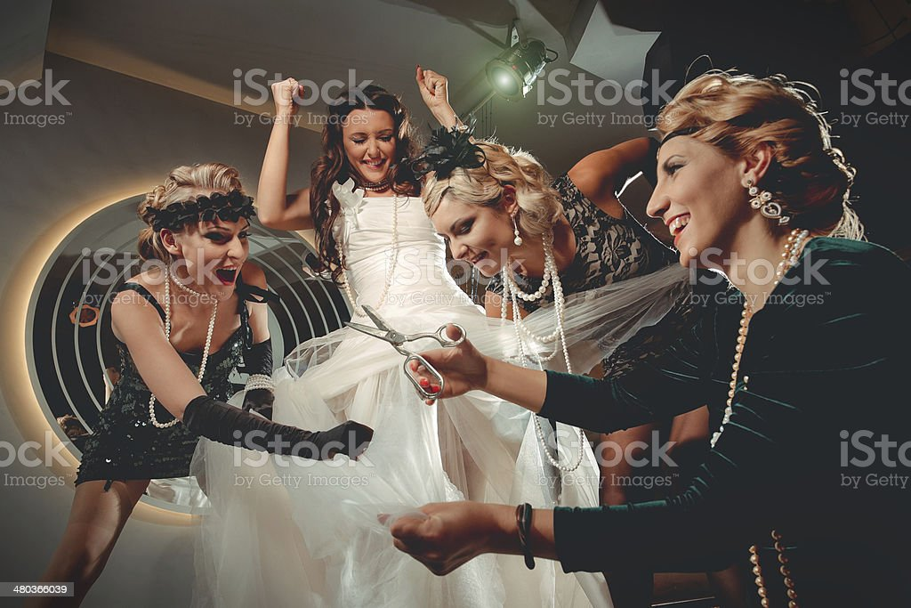 bachelorette party stock photo