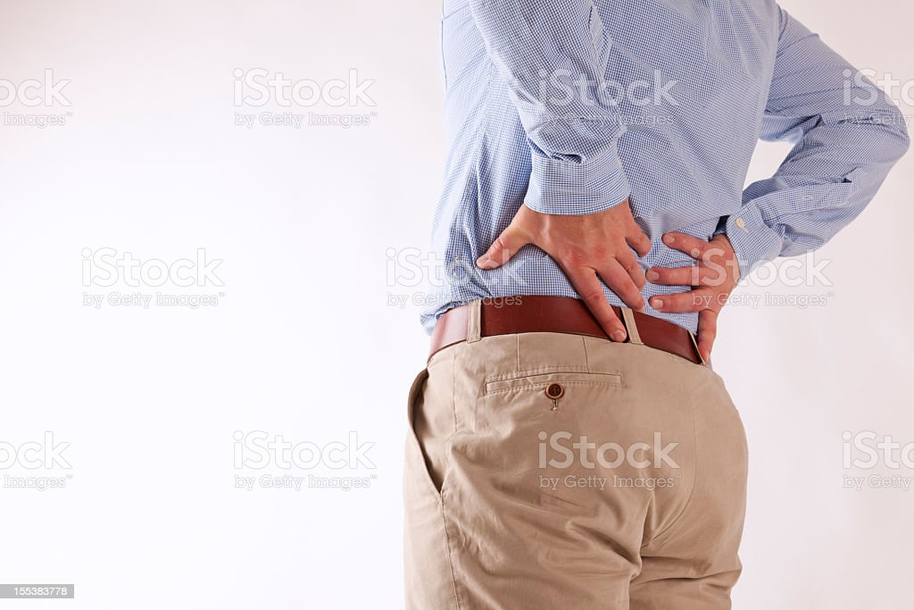 back ache royalty-free stock photo