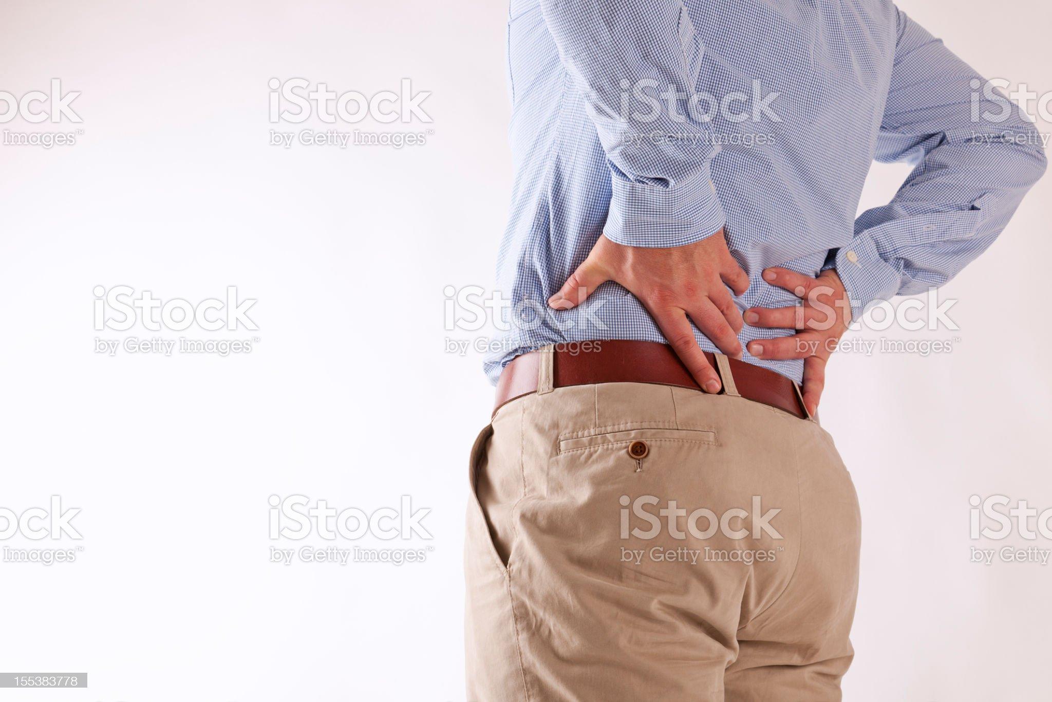back ache royalty-free stock photo