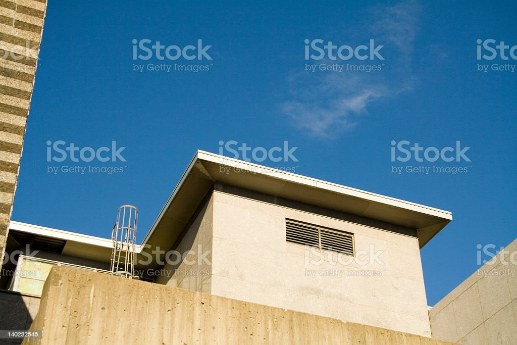 Back Alley and Sky royalty-free stock photo