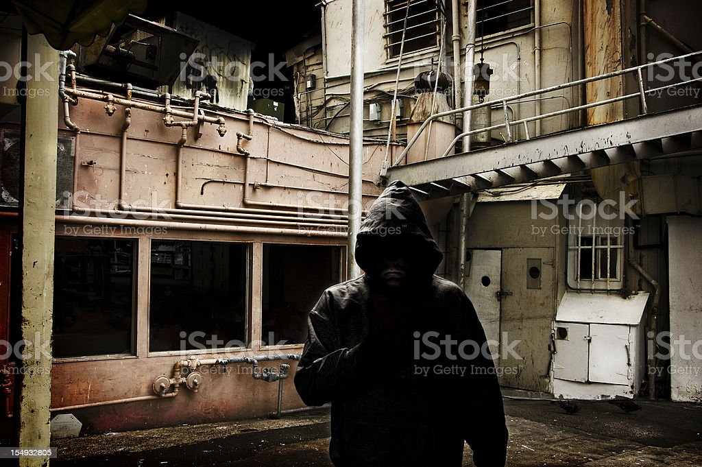 Back Alley Boogeyman stock photo