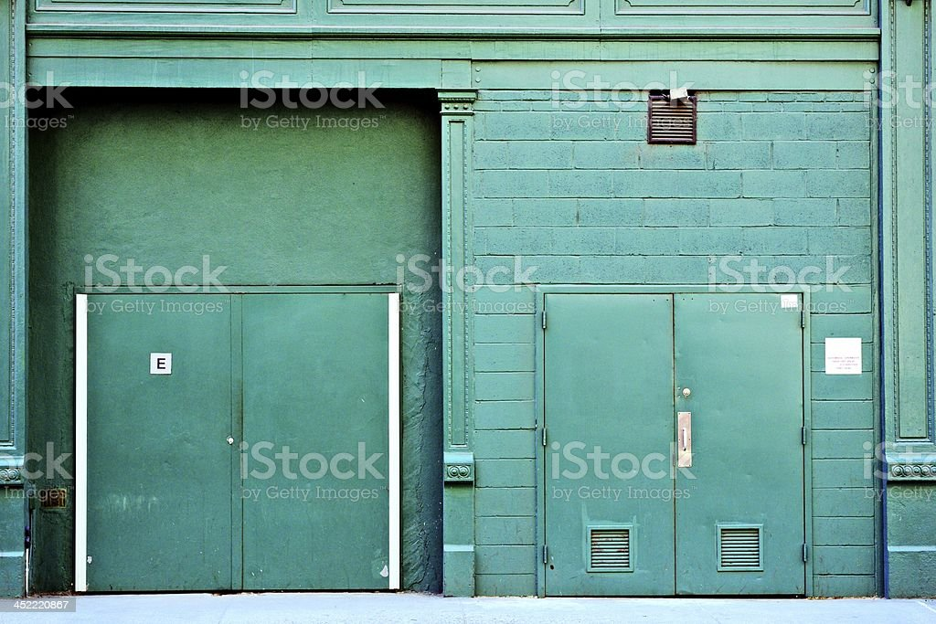 Back Alley Door royalty-free stock photo