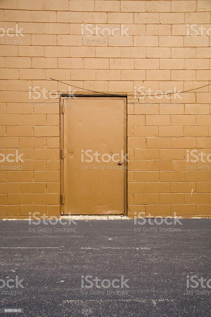 Back Alley Door stock photo