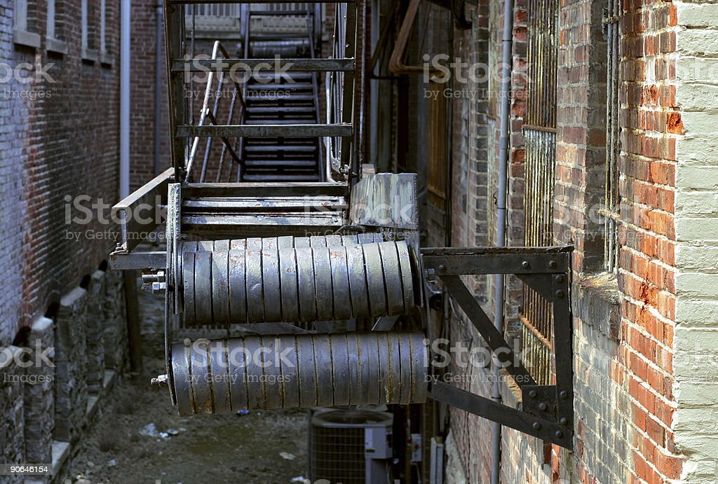 Back Alley Fire Escape #2 royalty-free stock photo