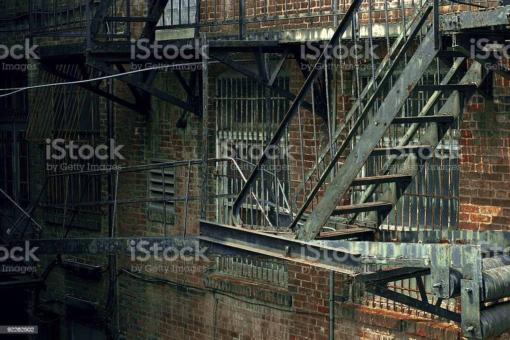 Back Alley Fire Escape royalty-free stock photo
