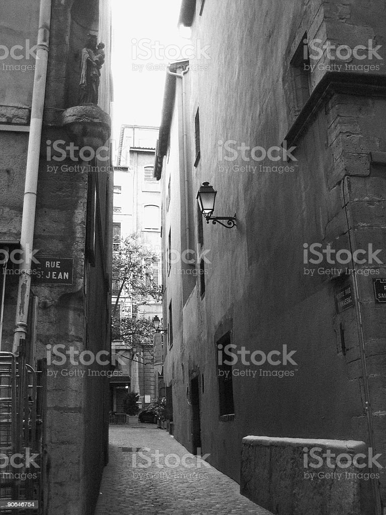 back alley stock photo