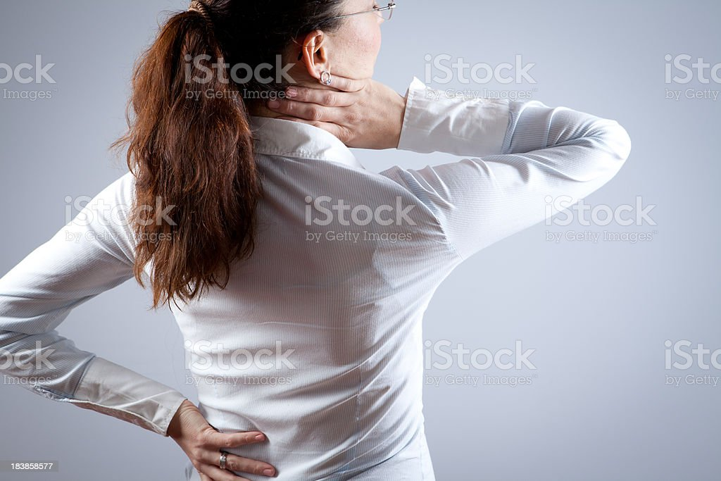 Back and Neck Pain royalty-free stock photo