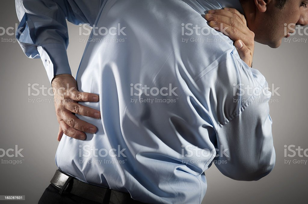 Back and Shoulder Pain royalty-free stock photo