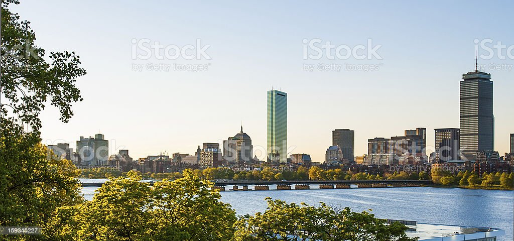 Back Bay and Charles River Afternoon royalty-free stock photo