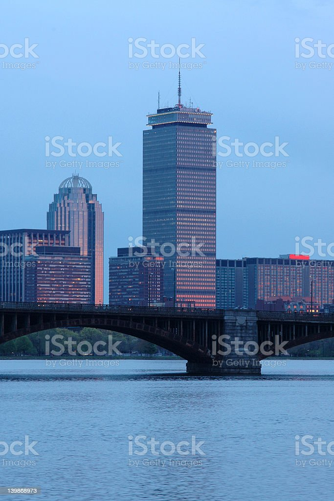 Back Bay Area in Boston royalty-free stock photo